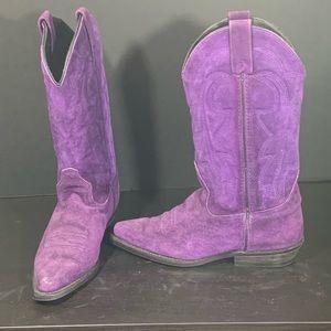 Vitoria Ricci Purple Suede Cowboy Boots 7.5